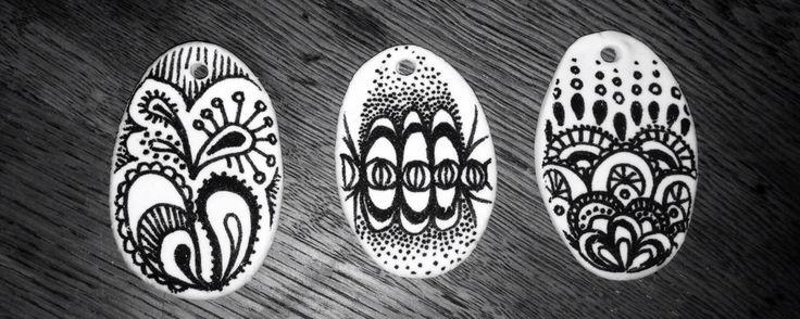 Zentangle pendants  #popupartparty