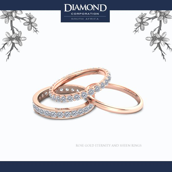 Rose Gold Eternity Rings | Diamond Corporation South Africa