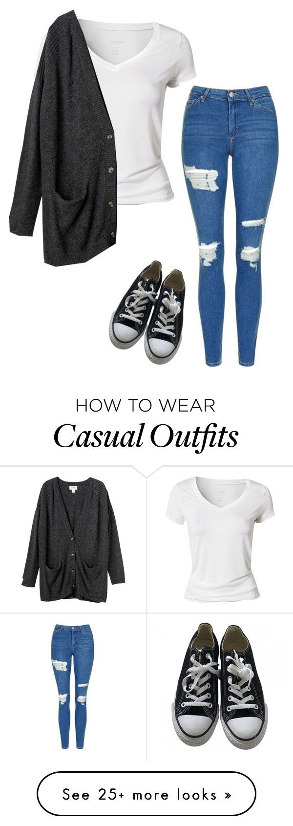 """crazy casual"" by darkartbeauty on Polyvore featuring Calvin Klein, Monki, Topshop and Converse"