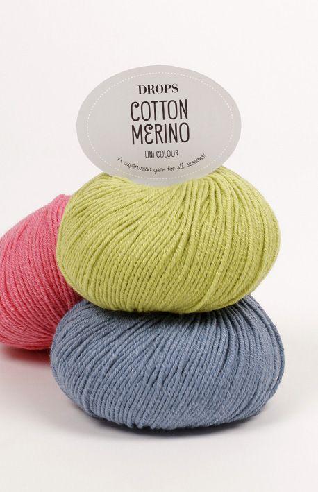 Mostruário de cores para o DROPS Cotton Merino 3.35 EUR/50g ~ DROPS Design