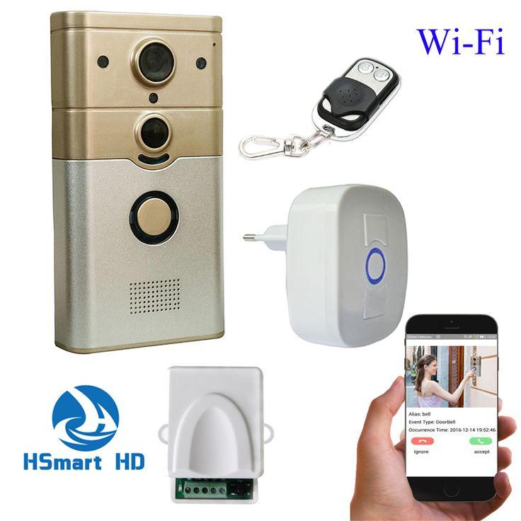 720 P IP Kamera WiFi Video Pintu Telepon bel Nirkabel IR night vision 3g/4g pir doorphone video pintu bel telepon motion deteksi