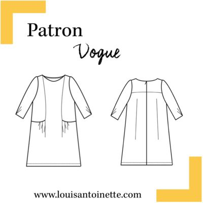 Louis Antoinette - robe Vogue - patron pochette : 15,90€