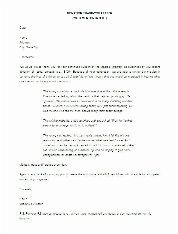 Donation Thank You Letter Templates Fresh 11 Sample Thank You Letter For Donation Thank You Letter Examples Thank You Letter Template Donation Thank You Letter