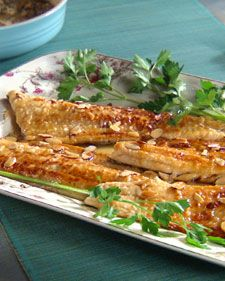 Trout Almandine   Trout is full of omega-3 fatty acids, which are beneficial for good cardiovascular health.