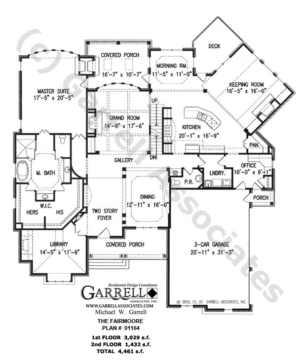 Fairmoore House Plan # 01164, 1st Floor Plan, Craftsman Style House Plans, French Country Style House Plans My dream home.