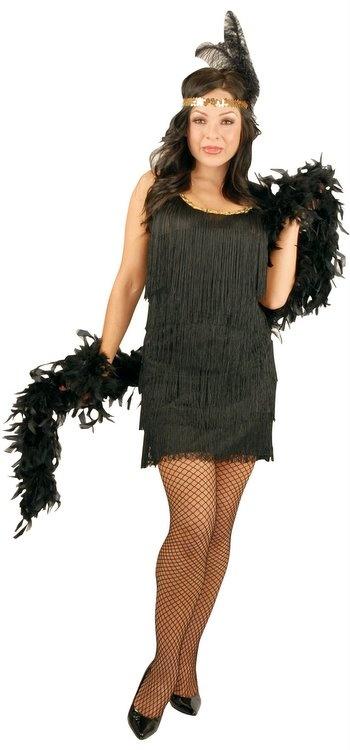 Black prohibition party dress