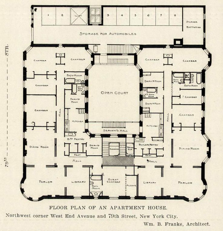 1664 best architecture floor plans vintage images on for Apartment floor plans new york city