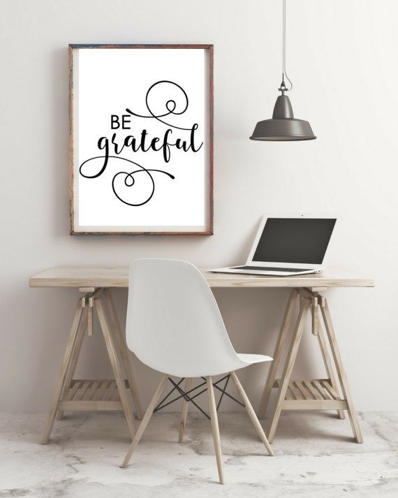 Be Grateful print  Motivational Print  Typography by KarooveCrafts