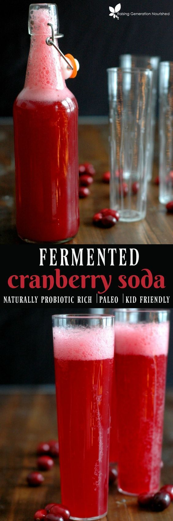 Fermented Cranberry Soda :: A naturally probiotic rich, kid friendly, real food soda! #bestprobioticforconstipationibs