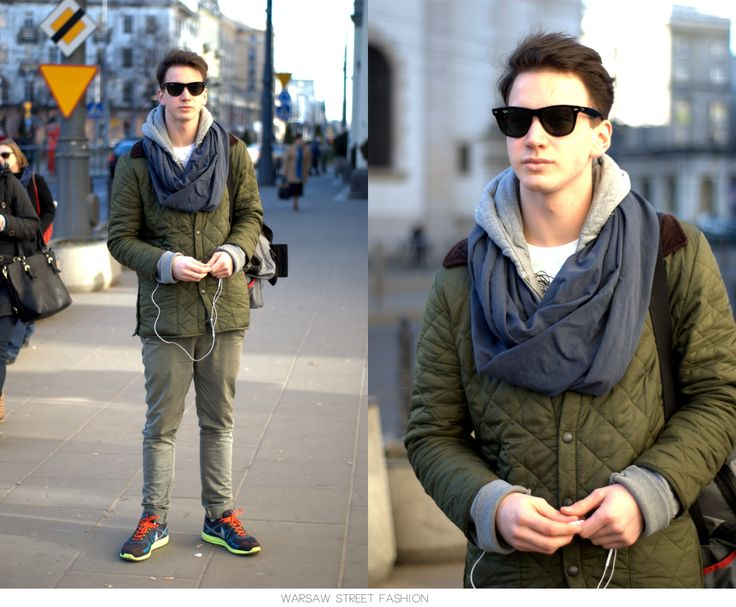 #warsawstreetfashion #warsaw #street #fashion #polish #stylish #guy #man #boy #handsome #nike #scarf #blue #black #sunglasses #ulica #modauliczna #centrum #warszawa #city #style #style #outfit #look