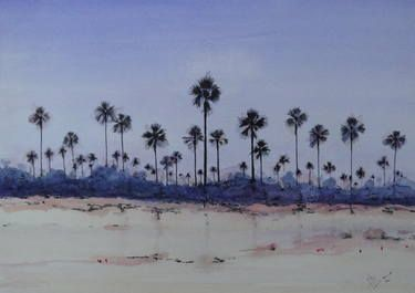 """Saatchi Art Artist Mel Davies; Painting, """"Peace in the Gambia"""" #art"""