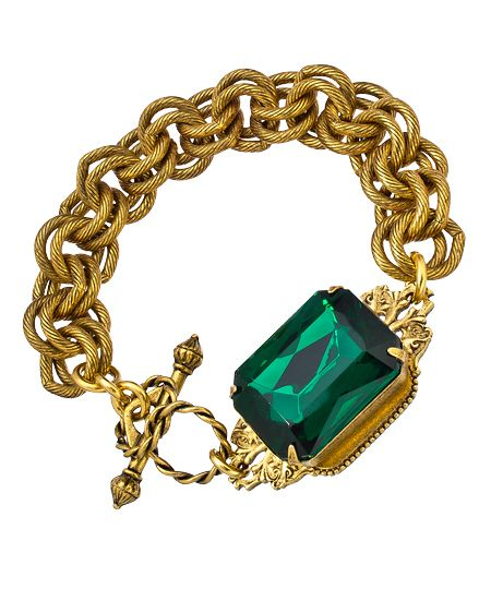 John Wind Maximal Art Emerald Heirloom Bracelet
