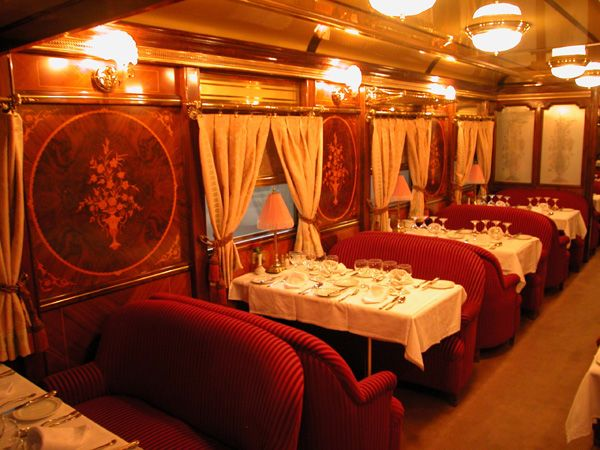 Al Andalus luxury train. You can almost feel a mystery that needs to be solved...