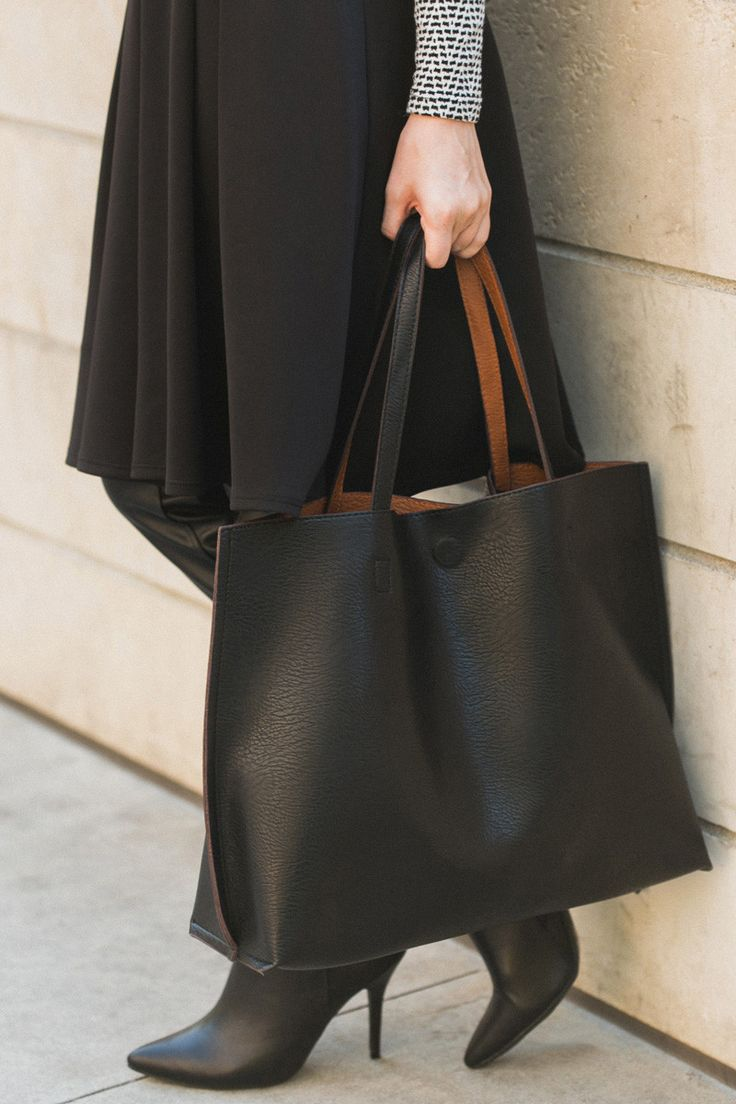 Best 25  Black tote bag ideas on Pinterest | Black tote, Black ...