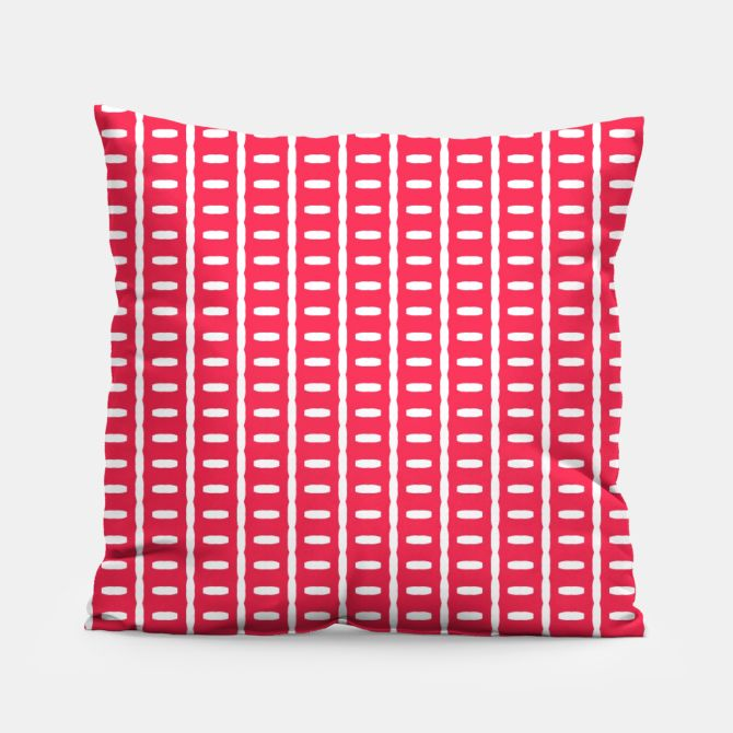 Red Stripes  Pillow