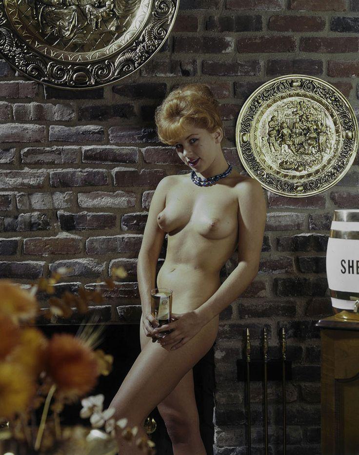 60s Nude Barmaid Vintage Ron Vogel Erotic Beer PinUp Color Camera Transparency  Regular Naked
