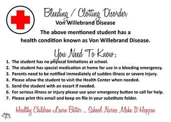 Bleeding / Clotting Disorder - Von Willebrand Disease info