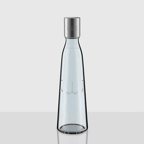 Whole World Water glass bottle and identity by Yves Behar/Fuseproject