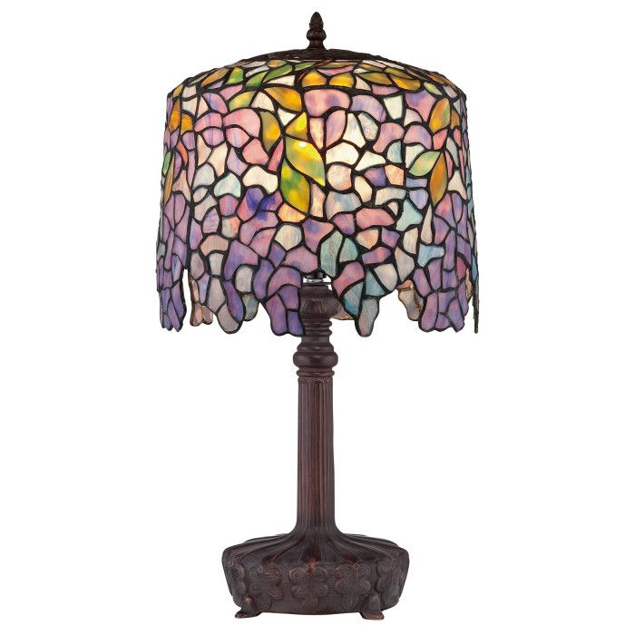 Shop quoizel purple wisteria tiffany table lamp at lowes canada find our selection of table lamps at the lowest price guaranteed with price match off