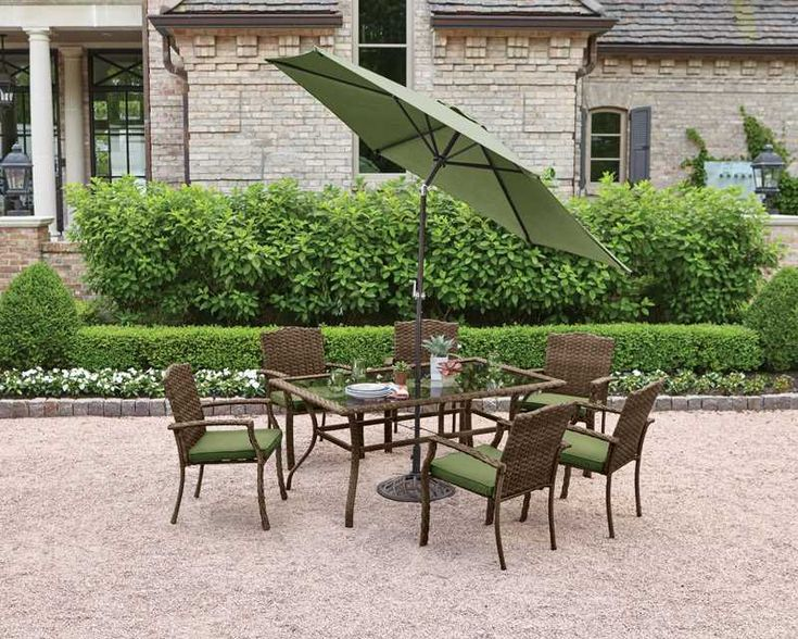 Living Accents Peyton 7 pc. Gray Steel Set Green - Ace ... on Ace Outdoor Living id=71824