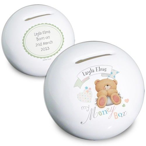 Personalised Forever Friends Baby Money Box  from Personalised Gifts Shop - ONLY £15.99