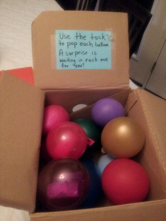creative ways to give$$$$ Place $$ in balloons then blow up and put in box.  mommysavers.com
