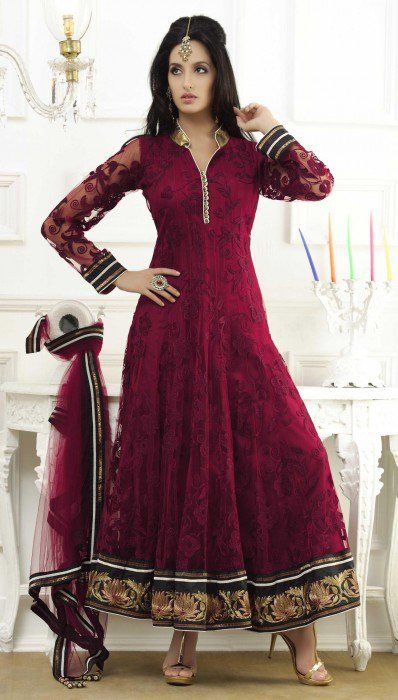 red-full-sleeve-net-long-anarkali