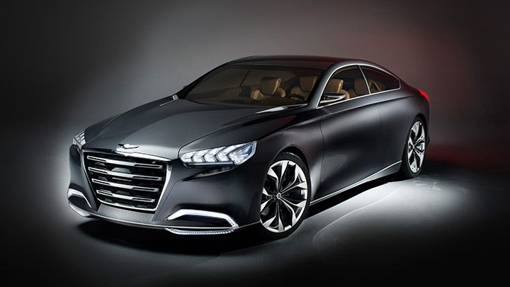 The Hyundai HCD-14 concept will see some of its design concepts in the new Genesis!  And we are excited!