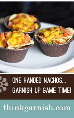 Superbowl Sunday wouldn't be the same without a little Garnish.  Give everyone their own special serving of game time nachos!