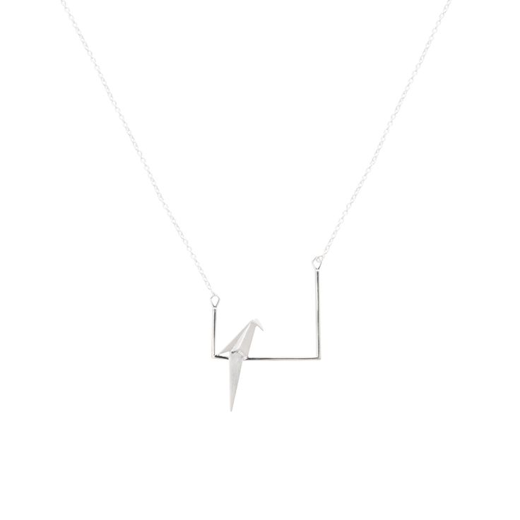 Buy the Origami Bird on Bar Silver Necklace at Oliver Bonas. Enjoy free worldwide standard delivery for orders over £50.