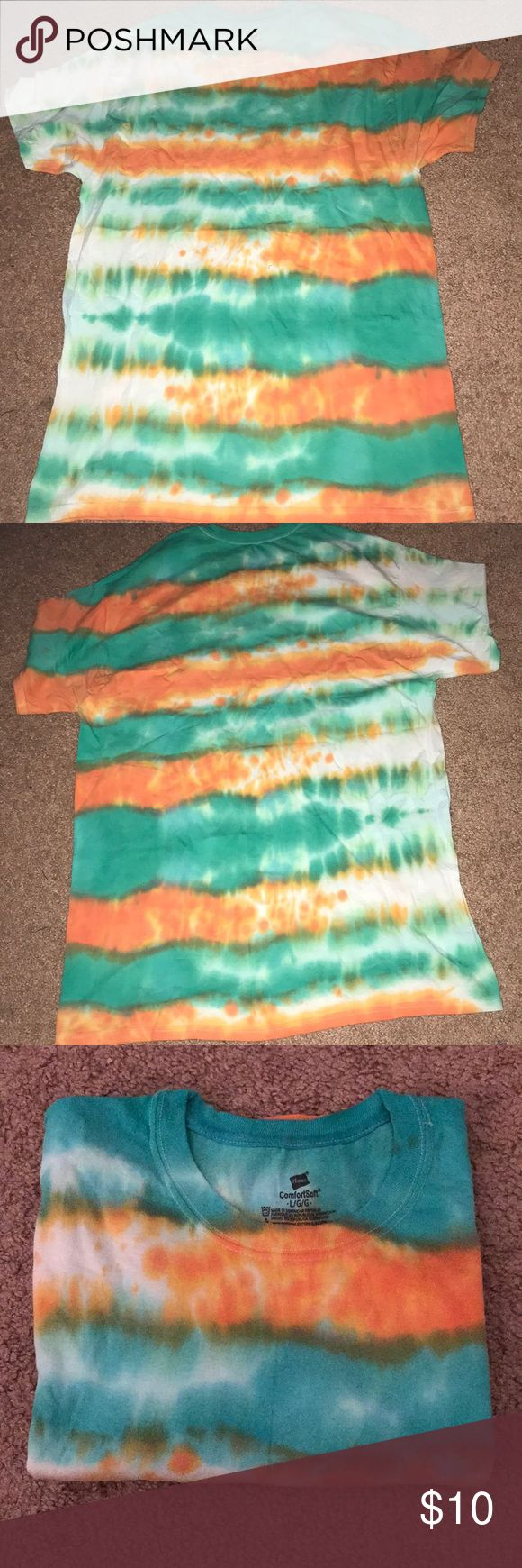 Green & Orange tie dye , men or women shirt Beautiful shirt😍😍😍😍 & Other Stories Shirts Tees - Short Sleeve