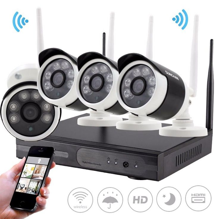 4CH 960P Wireless NVR System P2P Wifi Network IP Camera Home Security CCTV Kits SUNCHAN