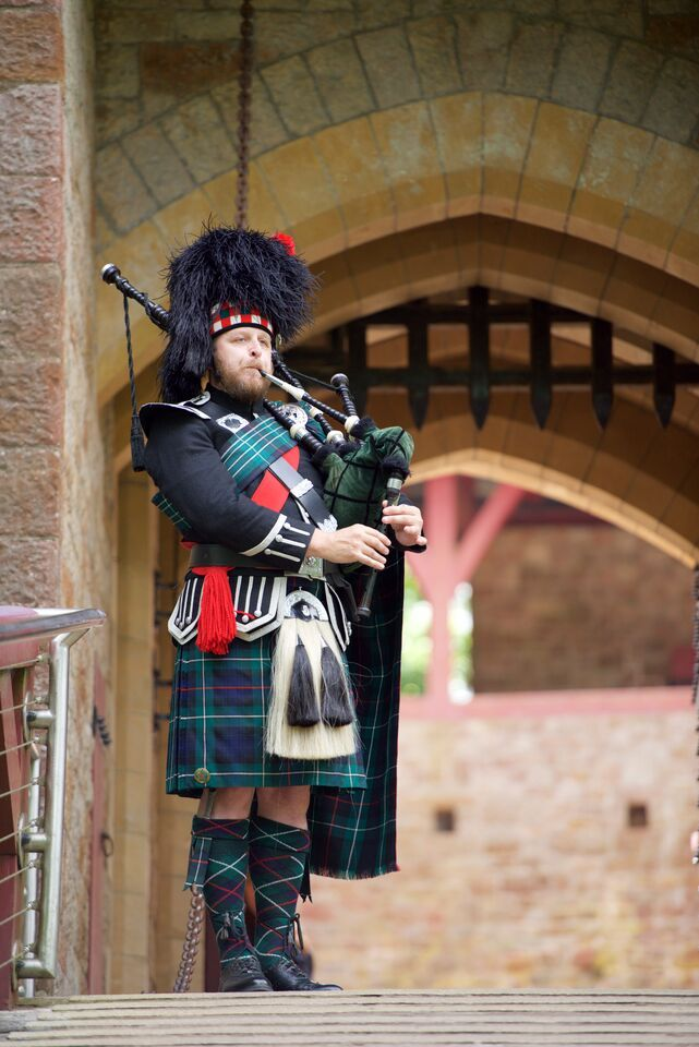 The Welsh Wedding Bagpiper At Castle Coch