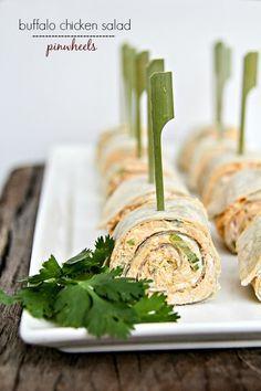 Buffalo Chicken Salad Pinwheels