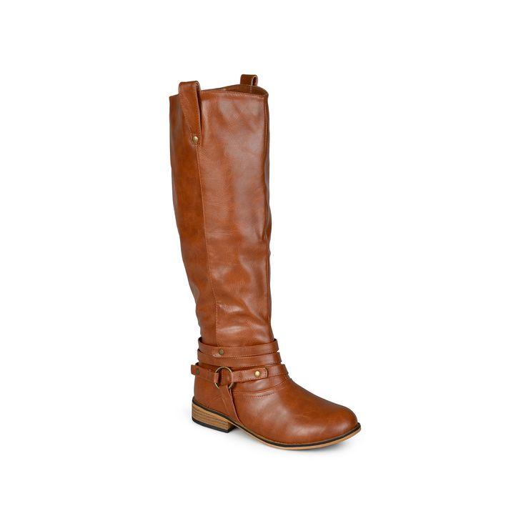 Journee Collection Walla Women's Knee-High Boots, Teens, Size: 7.5 M Xwc, Lt Brown