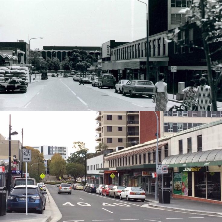 Featherstone Street looking towards Bankstown Town Hall, Bankstown 1980 > 2016. [Bankstown Library & Knowledge Centre > Ray Bk. By Rayy Bk]