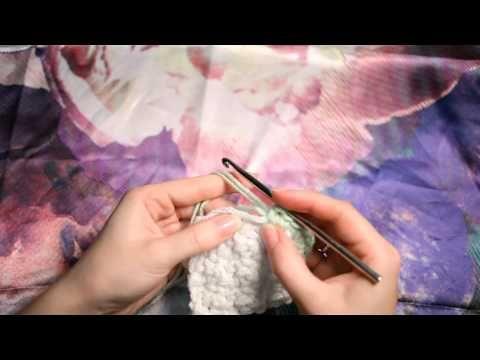Курс Основы вязания крючком - Обвязка края - YouTube