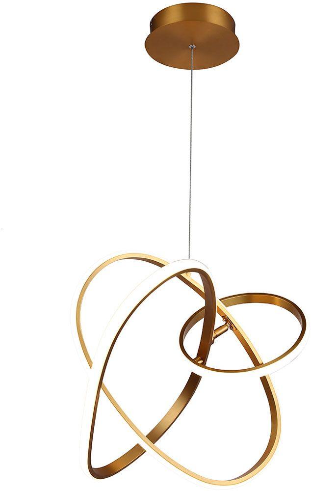 Circa Modern Gold Led Hanging Pendant