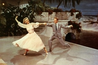 Danny Kaye and Vera-Ellen's dance number in While Christmas, to the song The Best Things Happen While Your Dancing (I always thought that was quite a long name for a song!)