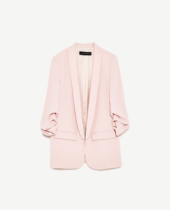 Image 6 of ROLL-UP SLEEVE JACKET from Zara