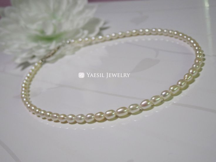 15 inch Freshwater Pearl Necklace, Quality Pearl Necklace by YaesilJewelry on Etsy
