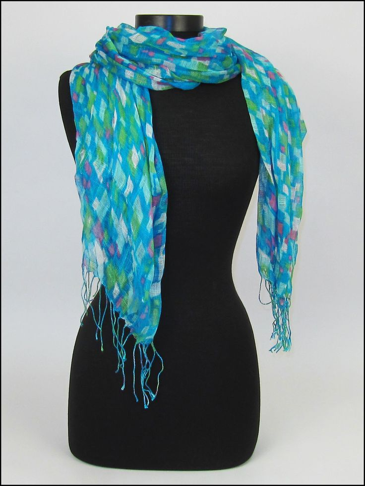 6 step by step techniques for tying a scarf! #scarves #scarftying $11.90