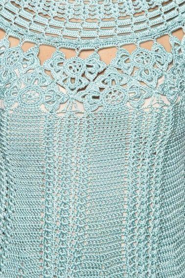 Acqua Mithos Crochet Dress - Vanessa Montoro USA - vanessamontorolojausa