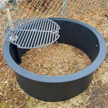 Check out https://www.ringoffirepit.com! Stainless steel, fire pit rings,spark screen,folding covers,cooking grill,conical dome covers,snuff covers,washer drum fire pit.