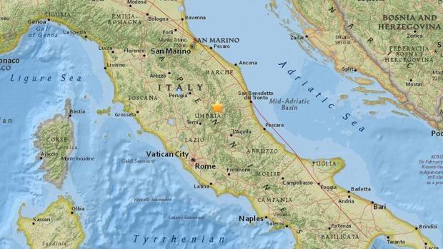El centro de Italia tiembla de nuevo tras un fuerte terremoto