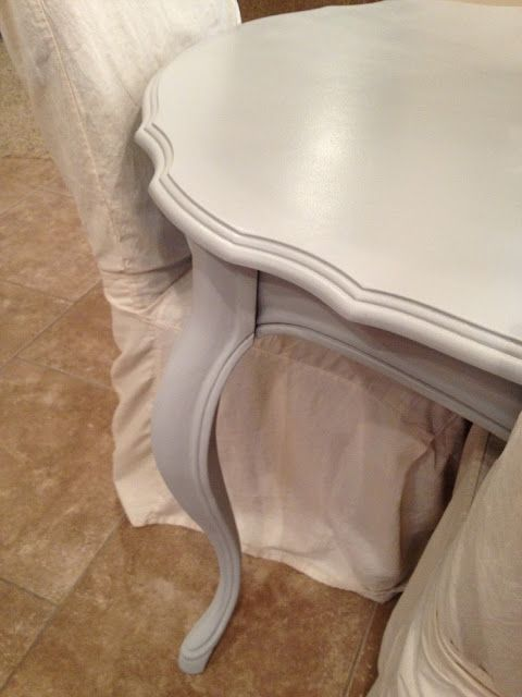 French Provincial Dining Table Refinished With Chalk Paint