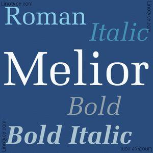 Melior® Familia tipográfica | Linotype.com