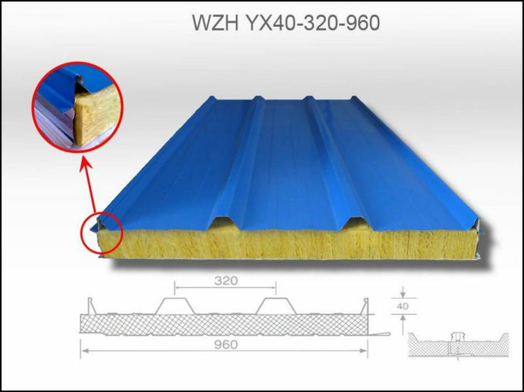 Insulated Aluminum Elite Roof Panels | Insulated Aluminum Rockwool Sandwich Roof Panels With Competitive ...