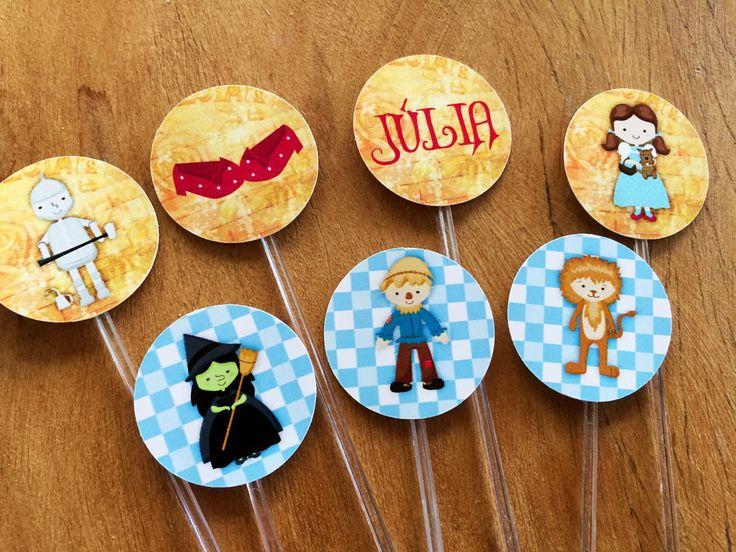 Tags de doces Festa Mágico de Oz | Design Festeiro