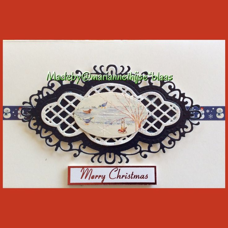 Die cut Xmas card